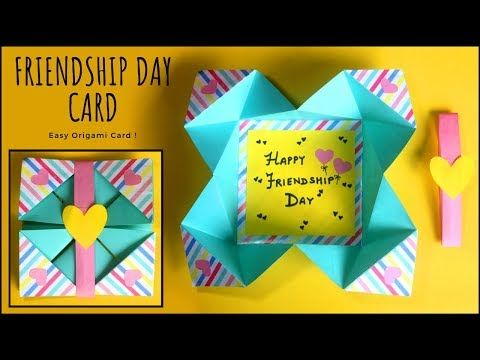 Easy Origami Greeting Card Friendship Day Card Handmade Cards Youtube Origami Birthday Card Origami Easy Cards Handmade
