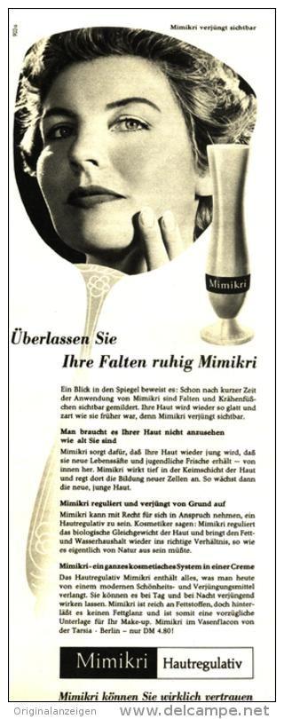 Original-Werbung/ Anzeige 1960 - MIMIKRI HAUTREGULATIV - ca. 110 x 280 mm