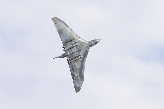 Vulcan XH 558 makes her final flight at the Clacton Air Show in her final year of flying before she is mothballed and becomes a static museum piece....