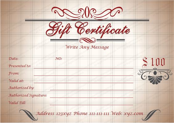 music gift certificate template