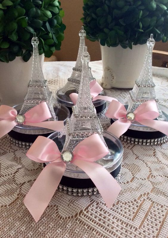 Eiffel Tower small centerpiece or favor- set of 6: