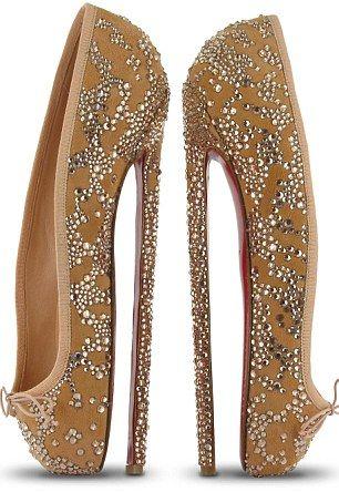 Christian Louboutin ballet heels... not nice.
