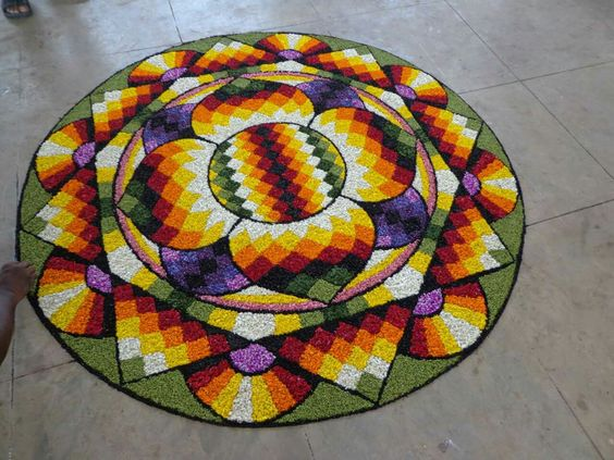 Beutiful flower rangoli....