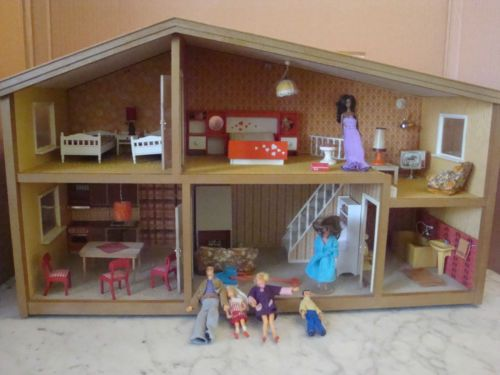 70 80 vintage lundby maison poupee meuble figurine comme barbie maison poup e lunby pinterest. Black Bedroom Furniture Sets. Home Design Ideas
