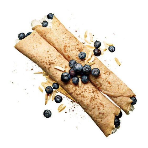 Ricotta-Blueberry Crepes