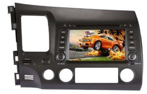 "7"" Car DVD Player with GPS for HONDA CIVIC 2006-2011 by NewerStone. $370.00. Navigation System for Honda Civic 7"" for 2006-2011 *Screen: Type: 7 Inch Digital Touch Screen Resolution: 800*480(WVGA) Image Brightness/ Contrast/ Color adjustable Auto-memory Function Car Brand Logo Changeable Auto Dimmer Function: Can dim automatically once the car light turn on, can't dim manually on the UI Installation type: ISO 2 DIN Size Power Supply: DC12V Max Working Current: 10A *DVD: Compatibl..."