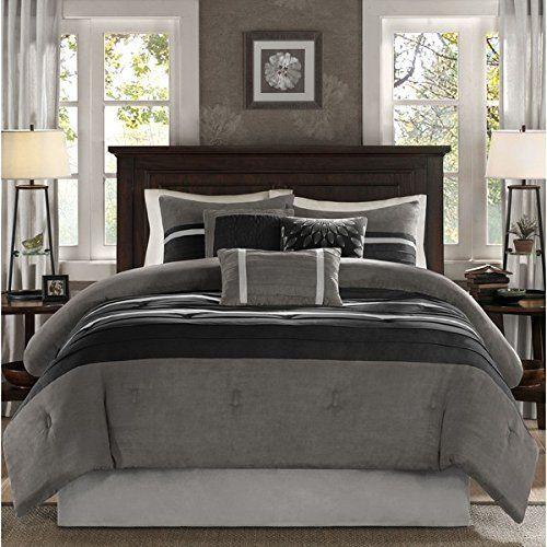 Grey Comforter Sets, Elegant Slate Grey Bedding