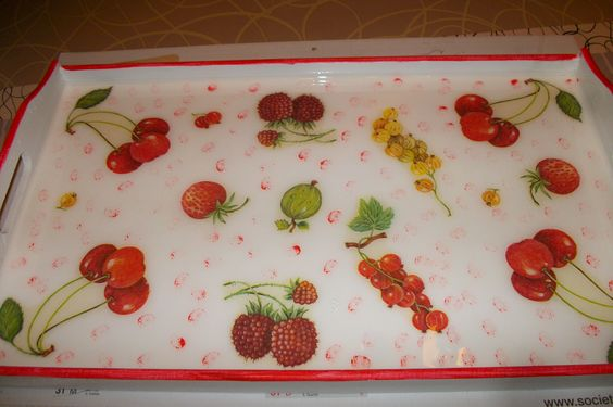 30 euros déco fruits rouges
