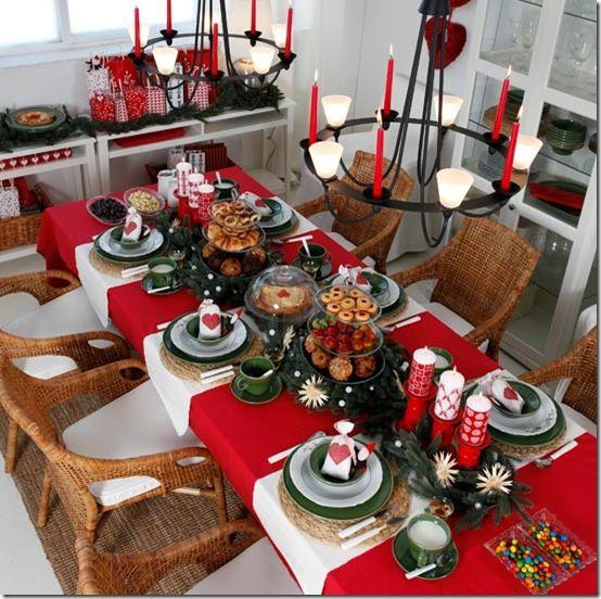Mesa para Ceia de Natal: