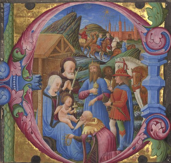 Cutting from a choir book, 1470s. Franco dei Russi (Italian, active about 1453 – 1482). Tempera and gold on parchment. 5 7/8 x 6 3/16 in. The J. Paul Getty Museum, Los Angeles, Ms. 83.