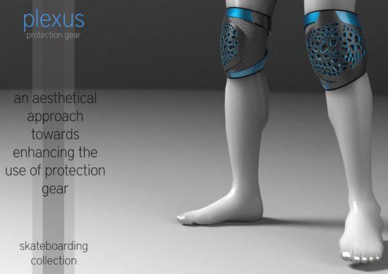 Plexus protection gear for skateboarding
