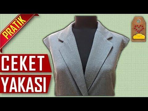 Ceket Yakasi Nasil Yapilir Ladies Coat Collar Dikis Hocam Youtube Kadin Ceketleri Kadin Paltolari Dikis