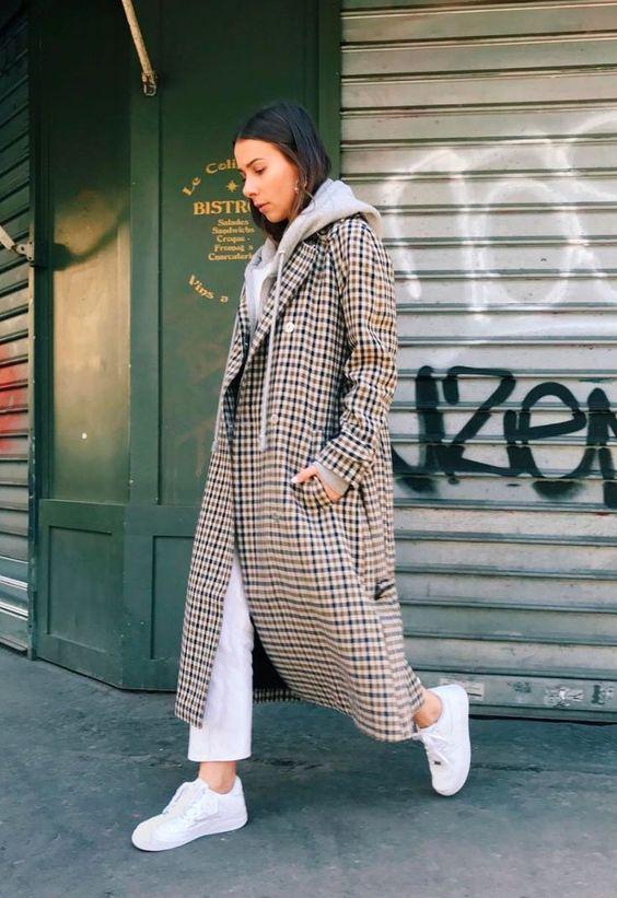 mini trend checked coat