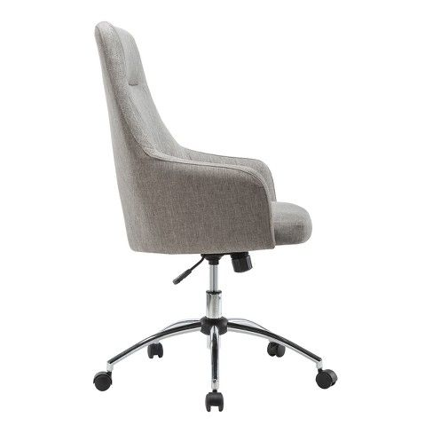 Comfy Height Adjustable Rolling Office Desk Chair Gray Techni