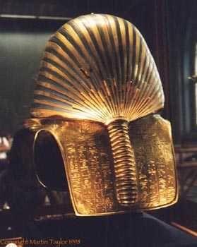 Back of King Tut's golden mask