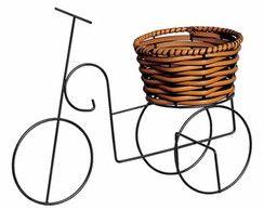 Vaso Junco Enfeite Bicicleta