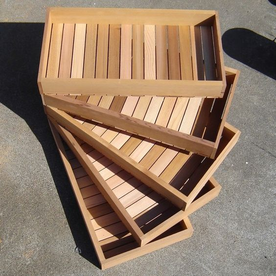 Wooden Seed Starting Tray, Seed Germination Box from Fresh Mill End Cedar