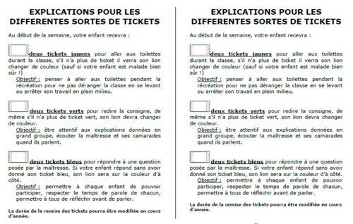 Gestion des tickets: fonctionnement de Laure 81