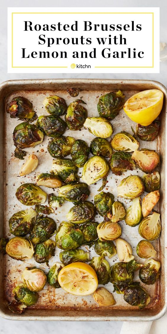 Roasted Brussels Sprouts with Lemon and Garlic