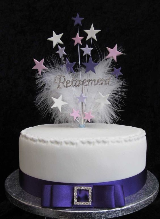 Diamante Cake Decorations Uk : Diamante Retirement Cake Topper With Stars Lilac, Pink ...