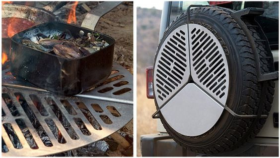 bbq grate that stores over the spare tire