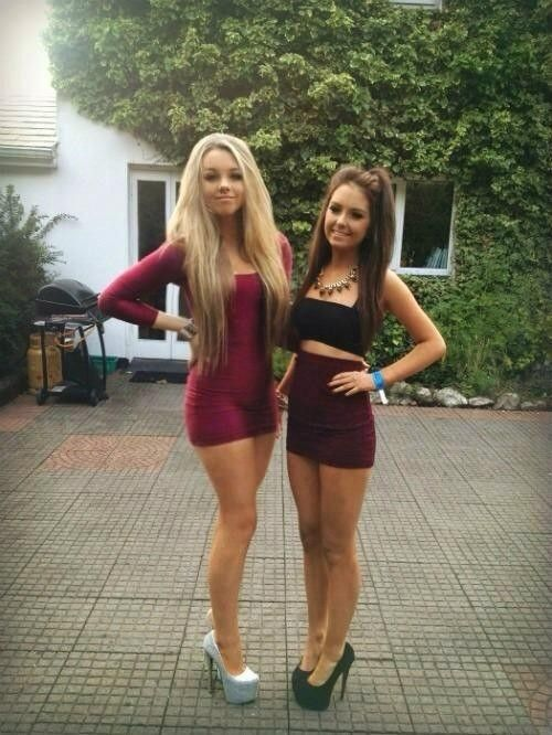 teens in high heels
