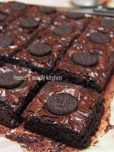 Chewy Brownies Dengan Kedutan Kue Lezat Makanan Resep Makanan Penutup