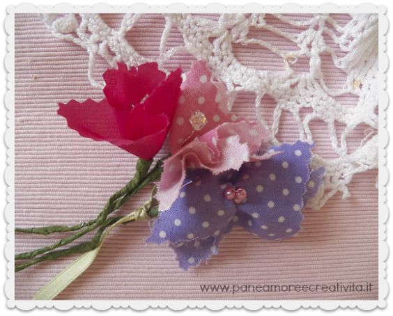 fiori di stoffa fai da te: Campioni Di, Tutorial Fiocchi, Flakes, Of Cloth, Flowers
