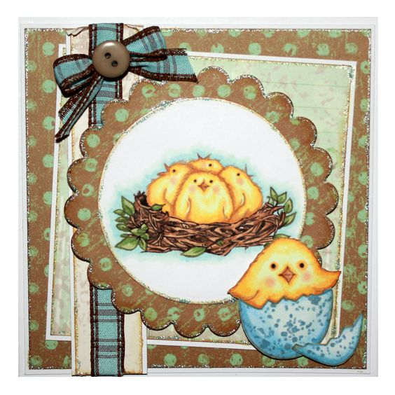 CS121D 'Spring has Sprung' Designed by Sharon Bennett for Hobby Art. This Card was made by Sally Dodger: