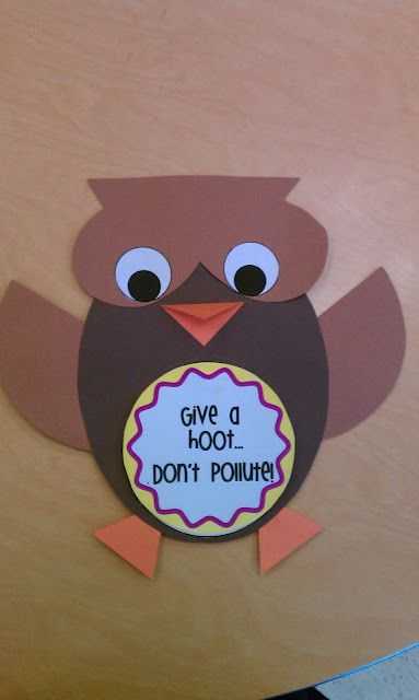 give a hoot..earth day craftivity