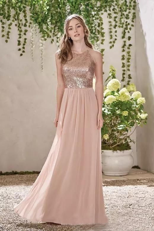 Backless Bridesmaid Dresses,Sequins