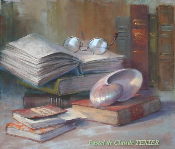 Still life painting done by pastel artist Claude Texier with Girault pastels