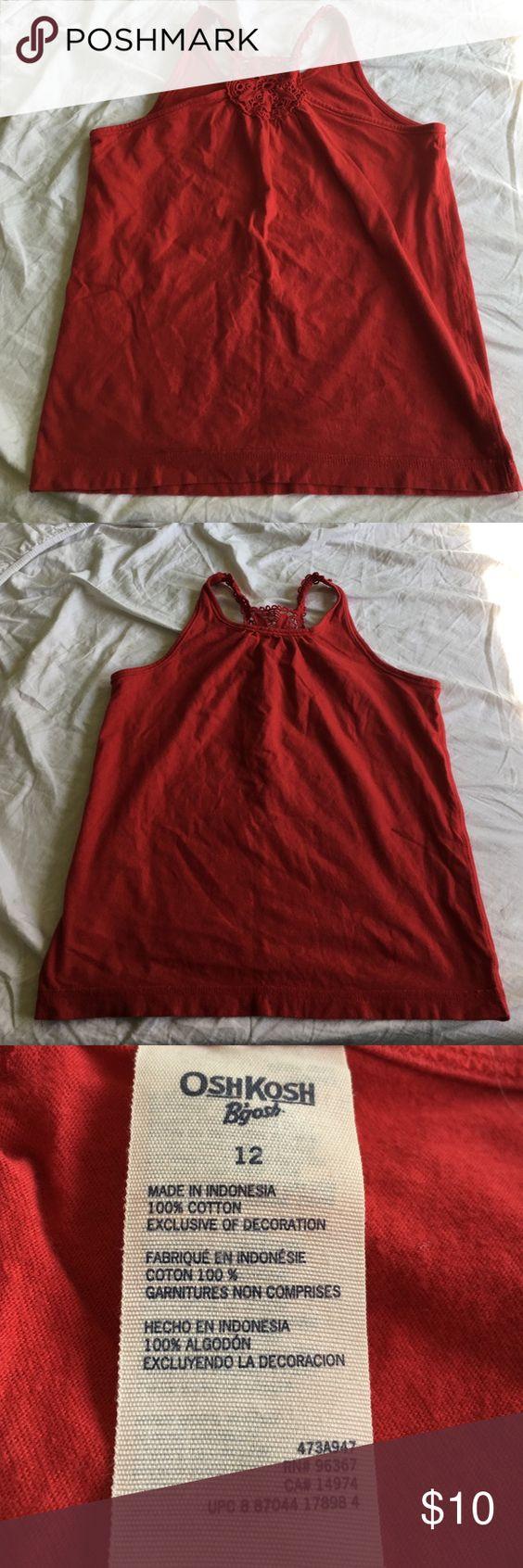 Red tank top Red tank top wit a beautiful back Osh Kosh Shirts & Tops Tank Tops