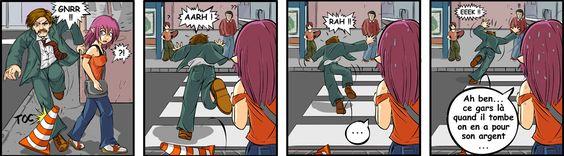 Spectacle de rue – image drole humour Webcomics par Maliki.