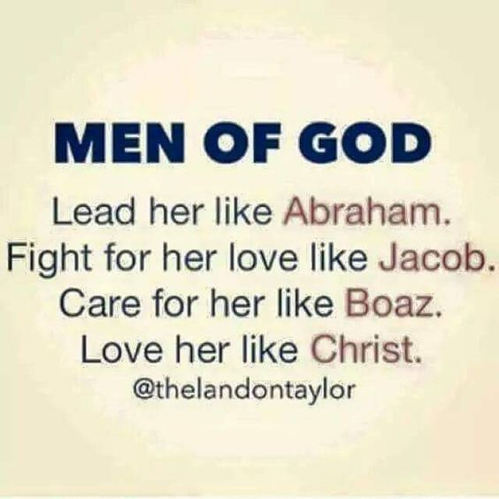 Man of God... love her like Christ ♥: