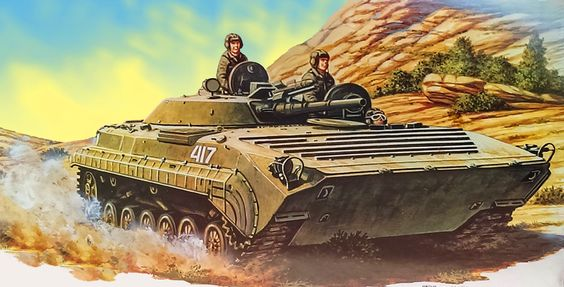 Soviet BMP-1U personnel carrier in Afghanistan: