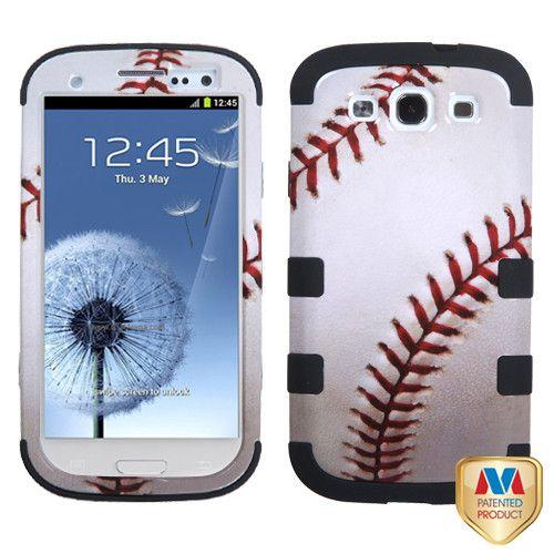 MYBAT TUFF Hybrid Protector Case for Galaxy S3 III - Baseball
