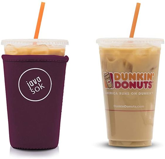 Kitchen Dining Dunkin Donuts Reusable Insulated Neoprene Iced Coffee Beverage Sleeve Mcdonalds Cold Drink Cup Holder For Starbucks Coffee 2 Pk Medium 22 24oz Aztec Bear Tim Hortons And More Storage