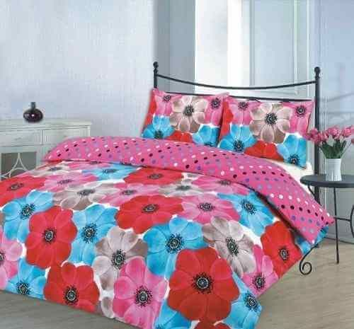 Sophia Printed Duvet Quilt Cover Bedding Set Red Linens Range Duvet Cover Sets Bed Duvet Covers Bed Sheets