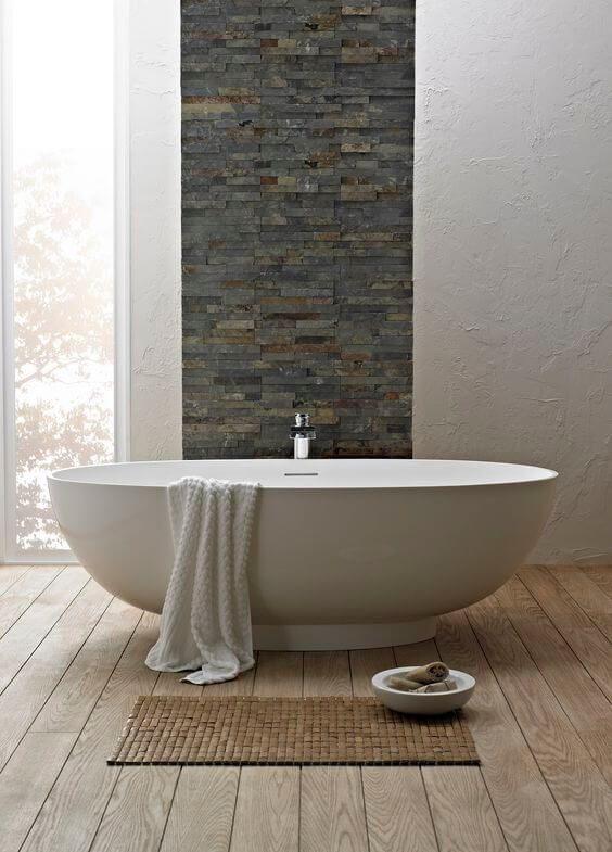 Salle De Bain Ardoise : Naturelle Et Chic | Apartment Ideas, Apartments And  Bath