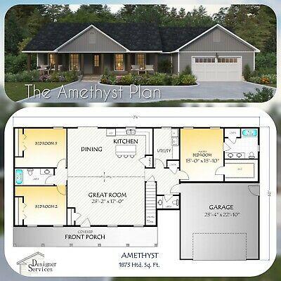 The Amethyst House Home Plan Dream House Plans New House Plans House Blueprints