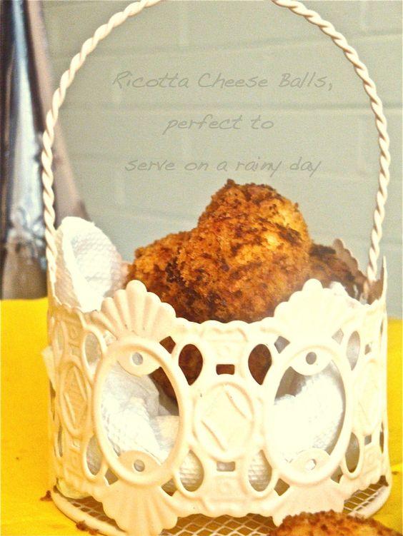 Ricotta Cheese Balls