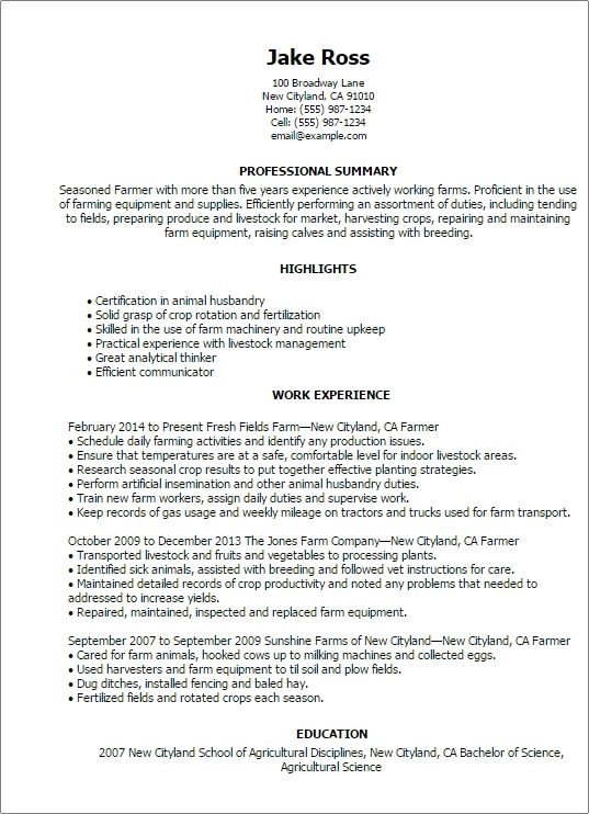 Agriculture Environment Resume Templates To Impress Any Business Resume Template Business Resume Cover Letter For Resume