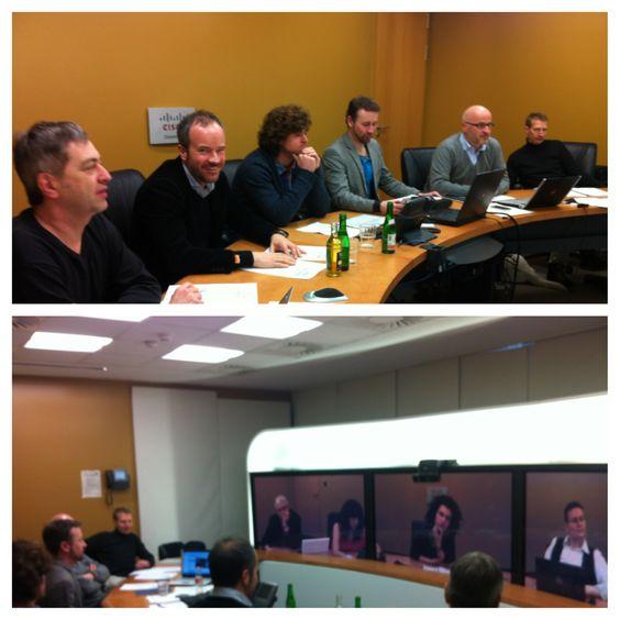 Jurysitzung zum Abschluss des MEDIA ENTREPRENEURSHIP LAB der ifs ... mit StudentInnen & Dozenten aus ganz Europa  http://www.filmschule.de/en/seiten/wtb_melprogram.aspx
