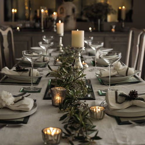 Christmas table decorations for festive dining | Garlands, Xmas and Shapes