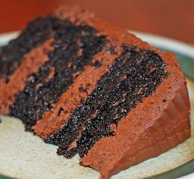 Deep Dark Chocolate Cake~I love this cake and it's easy to make :)