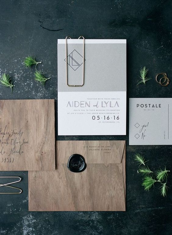 modern wedding invitations pinteres - Modern Wedding Invitations