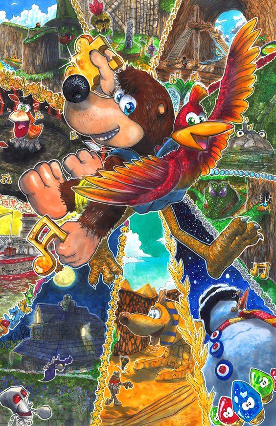 Banjo-Kazooie: Bear and Bird by matsuyama-takeshi.deviantart.com on @DeviantArt