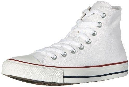 zapatillas converse blancas con caña