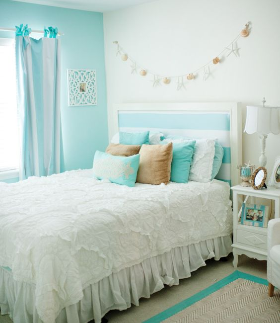 aqua color girls and beautiful bedrooms on pinterest